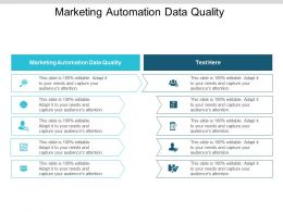 Marketing Automation Data Quality Ppt Powerpoint Presentation Layouts Background Cpb
