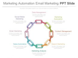 Marketing Automation Email Marketing Ppt Slide
