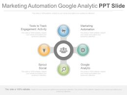 Marketing Automation Google Analytic Ppt Slide