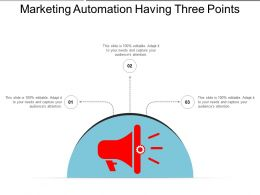Marketing Automation Having Three Points