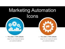 Marketing Automation Icons Powerpoint Slide Template
