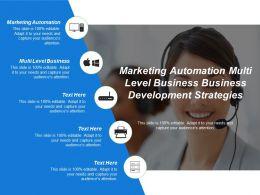 Marketing Automation Multi Level Business Business Development Strategies