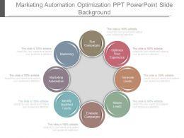 Marketing Automation Optimization Ppt Powerpoint Slide Background