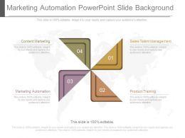 Marketing Automation Powerpoint Slide Background
