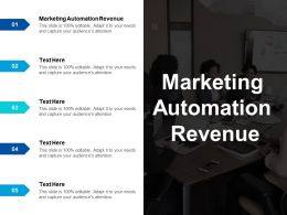 Marketing Automation Revenue Ppt Powerpoint Presentation Ideas Objects Cpb