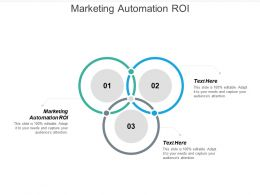 Marketing Automation ROI Ppt Powerpoint Presentation Gallery Cpb