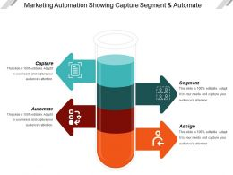 Marketing Automation Showing Capture Segment And Automate