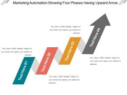 Marketing Automation Showing Four Phases Having Upward Arrow