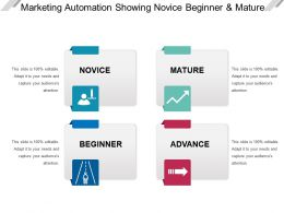Marketing Automation Showing Novice Beginner And Mature