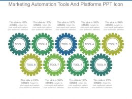 Marketing Automation Tools And Platforms Ppt Icon