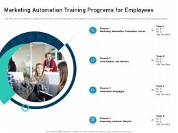 Marketing Automation Training Programs For Employees Adapt Ppt Icons