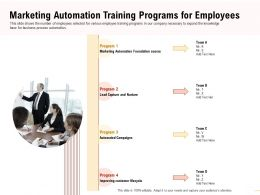 Marketing Automation Training Programs Foundation Course Ppt Presentation Tips