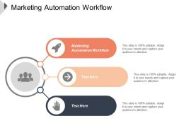Marketing Automation Workflow Ppt Powerpoint Presentation Infographics Designs Cpb