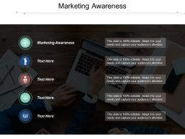 Marketing Awareness Ppt Powerpoint Presentation Ideas Show Cpb