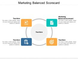 Marketing Balanced Scorecard Ppt Powerpoint Presentation Layouts Professional Cpb