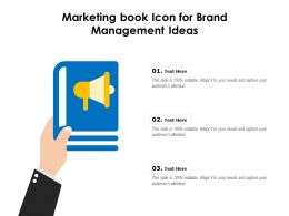 Marketing Book Icon For Brand Management Ideas