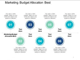 Marketing Budget Allocation Best Ppt Powerpoint Presentation Styles Gridlines Cpb