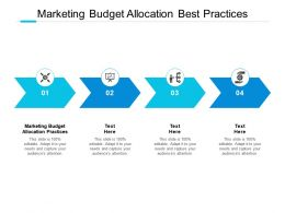 Marketing Budget Allocation Best Practices Ppt Powerpoint Show Visuals Cpb