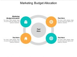 Marketing Budget Allocation Ppt Powerpoint Presentation Portfolio Smartart Cpb