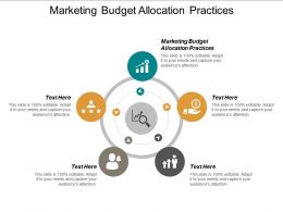 Marketing Budget Allocation Practices Ppt Powerpoint Presentation Inspiration Cpb
