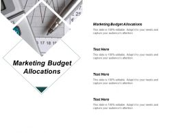 Marketing Budget Allocations Ppt Powerpoint Presentation Infographics Outfit Cpb