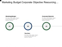 Marketing Budget Corporate Objective Resourcing Monitoring Technical Solutions