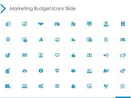 Marketing Budget Icons Slide Finance Ppt Powerpoint Presentation Slides Background Images