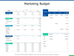 Marketing Budget Local Marketing Ppt Powerpoint Presentation Infographic Template Layouts
