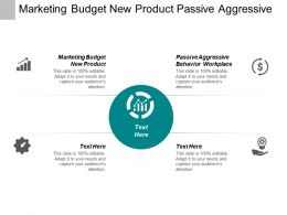 Marketing Budget New Product Passive Aggressive Behaviour Workplace Cpb