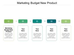 Marketing Budget New Product Ppt Powerpoint Presentation Outline Grid Cpb