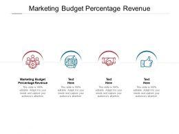Marketing Budget Percentage Revenue Ppt Powerpoint Presentation File Cpb