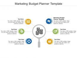 Marketing Budget Planner Template Ppt Powerpoint Presentation Ideas Slide Download Cpb