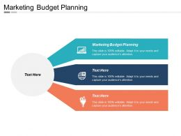 Marketing Budget Planning Ppt Powerpoint Presentation Gallery Icon Cpb
