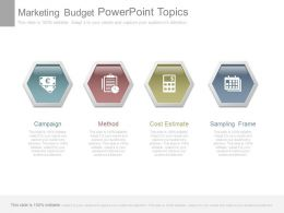 Marketing Budget Powerpoint Topics