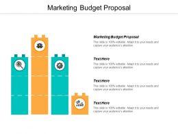 Marketing Budget Proposal Ppt Powerpoint Presentation Portfolio Structure Cpb