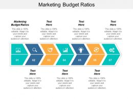 Marketing Budget Ratios Ppt Powerpoint Presentation File Rules Cpb