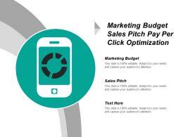 Marketing Budget Sales Pitch Pay Per Click Optimization