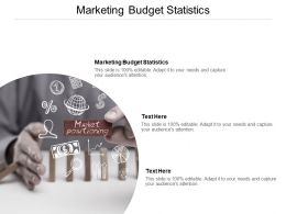 Marketing Budget Statistics Ppt Powerpoint Presentation Inspiration Maker Cpb