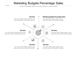 Marketing Budgets Percentage Sales Ppt Powerpoint Presentation Icon Guide Cpb