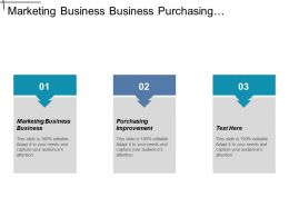 Marketing Business Business Purchasing Improvement Bank Business Models Cpb