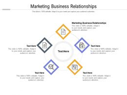 Marketing Business Relationships Ppt Powerpoint Presentation Ideas Layout Cpb