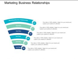 Marketing Business Relationships Ppt Powerpoint Presentation Infographics Graphics Cpb