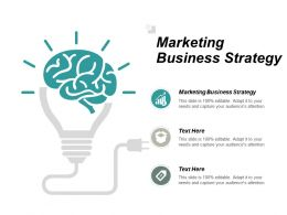 Marketing Business Strategy Ppt Powerpoint Presentation Pictures Deck Cpb