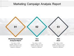 Marketing Campaign Analysis Report Ppt Powerpoint Presentation Pictures Graphics Template Cpb