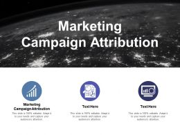 Marketing Campaign Attribution Ppt Powerpoint Presentation Infographic Template Clipart Cpb