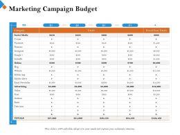 Marketing Campaign Budget Outdoor Ppt Powerpoint Presentation Summary Portfolio