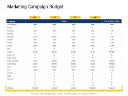 Marketing Campaign Budget Television Ppt Powerpoint Presentation Gallery Outfit