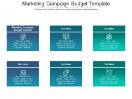 Marketing Campaign Budget Template Ppt Powerpoint Presentation Pictures Visual Aids Cpb