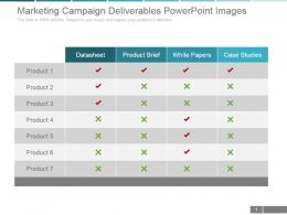 Marketing Campaign Deliverables Powerpoint Images