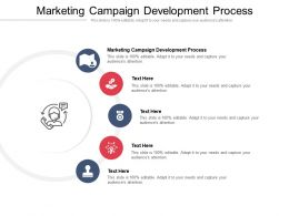 Marketing Campaign Development Process Ppt Powerpoint Presentation Infographic Template Cpb